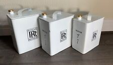 Vintage Style Reproduction Metal ROLLS ROYCE White Motor Oil Petrol Can 40cm