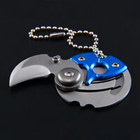 Outdoor Survival Coin knife Camping EDC Claw Knives Keyring Keychain Knives