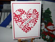 BE MINE HEARTS ~VALENTINE'S DAY HANDMADE GREETING CARD ~STAMPIN UP