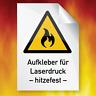 HEISS °C Temperatur beständig Etiketten Aufkleber Label Laserdrucker DIN A4 HOT
