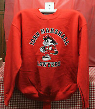 1004-SS Red Cotton Sweat Shirt. (Med to XL)