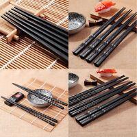 2Pairs Japanese Chopsticks Alloy Non-Slip Sushi Chop Sticks Set Chinese Gift