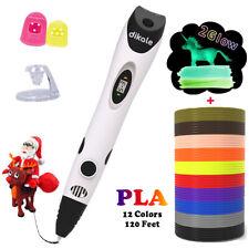 dikale 3D Pen with 12 Colors 10 Feet Each Total 120 Feet PLA Filament Refills