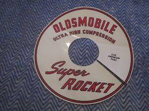 """1965 1966 1967 OLDSMOBILE SUPER ROCKET ULTRA COMP AIR CLEANER DECAL 11"""" OBSOLETE"""