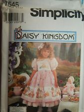Childs & Doll Dress Modest 3 4 5 6 Sewing Pattern Simplicity 7545 Daisy Kingdom
