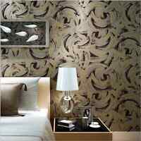 Dark Gold Grey Artistic Abstract Painting Circle Scroll 3D Designed Wallpaper