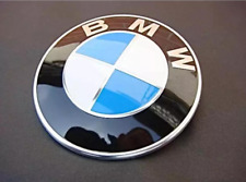 1x BMW Emblem 82mm Front Hood Rear Trunk Badge Roundel 2 Pins For BMW e21 e46