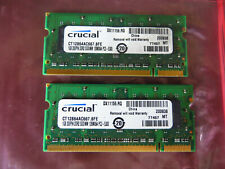 Crucial 2GB DDR2 Laptop RAM Memory 2 X 1GB DDR2 667 SODIMM PC2-5300 200pin RAM