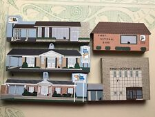 Lot Of 5 Cat's Meow Village First National Bank Wayne Co Oh Amish Country