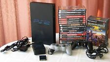 Sony PS2 PlayStation 2 Black Console (CPH-30001R) Multitap 2-Controls 18 Games +