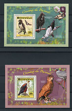 Burundi 2014 MNH Birds of Burundi Birds of Prey 4x Deluxe S/S Eagles Kestrel