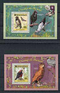 Burundi 2014 MNH Birds of Burundi Birds of Prey 4x Deluxe S/S Eagles Kestrel