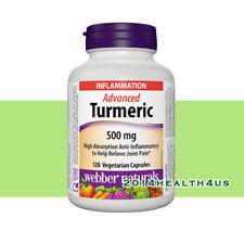 Webber Naturals® Advanced Turmeric 500 mg, 120 Vegetarian Capsules