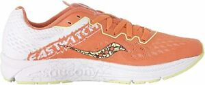 Saucony Women's Fastwitch 8 Running Shoe, Coral/Citron, 9 B(M) US