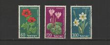 ISRAEL 3 timbres oblitérés 1959 fleur /T2929
