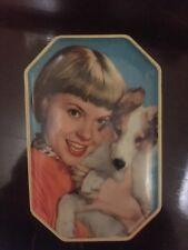 Vintage Arthur Holland Toffee Tin Girl & Puppy Design