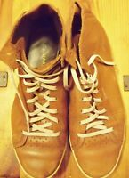 COLE HAAN Men's Brown Leather Walking Shoes Oxfords 9.5 M HIGH TOPS