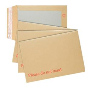Board Backed Envelopes Brown Cardboard Please Do Not Bend Envelopes Pack of 50