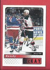 1999-00 Upper Deck MVP Stanley Cup Edition Silver Script 109 RANDY MCKAY