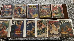 planet Stories pulp Lot Amazing stories pulp bondage covers 11 complete copies