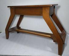Vintage Mid Century Modern Curved Solid Walnut Wood Organ Piano Bench w/ Storage