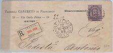 57066 - ITALIA REGNO - STORIA POSTALE :  Sass 42b  isolato su BUSTA   1883