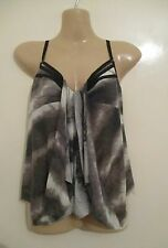 """UK S 8 10 FIRETRAP grey brown """"BETSY"""" wool mix strappy evening top party summer"""
