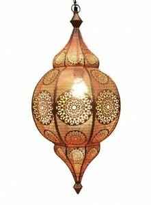 """31"""" Moroccan Hanging Turkish Lamp Ceiling Light Fixture Or Outdoor Vintage Lamps"""