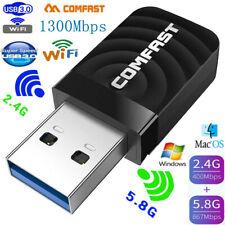 COMFAST USB3.0 Wireless Network Card 1300M 5G WiFi Dongle Adapter 802.11 b/g/n