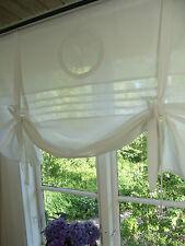 Raff Gardine MATHILDE WEISS Rollo 100x100 LillaBelle Shabby Landhaus Curtain