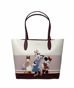 Kate Spade x Disney Large Bag Reversible Tote Multicolor Burgundy Hand WKR00331