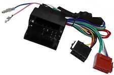 Adaptateur faisceau câble fiche ISO pour autoradio compatible Audi Seat Skoda VW