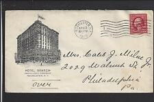 ROCHESTER,NEW YORK 1909 COVER ILLUST HOTEL ADVT.   HOTEL SENECA.