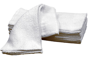 8 lb Bale of Cotton Terry Cloth Rags Cleaning Towels Shop Wiping 100+ washings