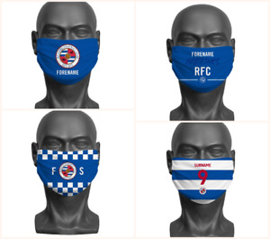 Personalised Reading FC Face Covering / Mask Official Adult RFC
