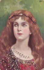 """Art Nouveau Female Head study , AS """"FB"""" , 00-10s"""