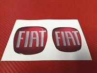 2 Adesivi Logo FIAT resinato 3D ricambio fregio anteriore e posteriore 500