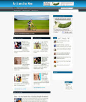 FAT LOSS FOR MEN UK AFFILIATE WEBSITE WITH FREE DOMAIN - 1 MONTHS HOSTING