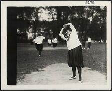 "New listing HP  8"" x 10""  1910 Photo A women's softball baseball game showing a woman"