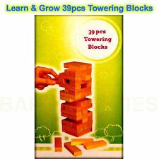 Learn & Grow Jenga Stacking Wood Blocks Wooden Tumbling Towering Blocks 39Pcs