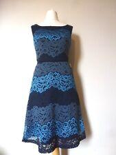 Yumi Womens Lace Stripe Dress Size 10 BNWT RRP $110 Dark Navy Uk Freepost