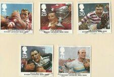 New listing GB QE II 1995 SG 1891 - 1895 Centenary of Rugby League set VFU