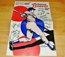 New listing Rare 1981 Richmond Braves Team Signed Poster & Scorecard w/ Brett Butler & More