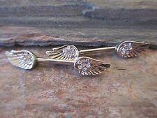 Full Set Guardian Angel Wings Barbell Nipple Shields Piercings
