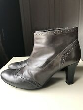 Dorothy Perkins Designer Brown Women Ankle High Heel Shoe Boot Size 5 38
