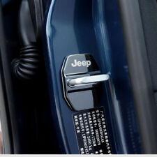 4x Edelstahl Türschloss Abdeckung Schnalle Schwarz  für Jeep Renegade Compass