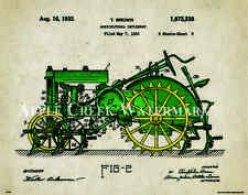 John Deere Tractor Patent Art Print Office Wall Decor Vintage Farm Toys Freitag