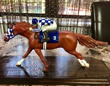 OOAK Custom Secretariat Breyer Horse Figurine With Jockey Amazing