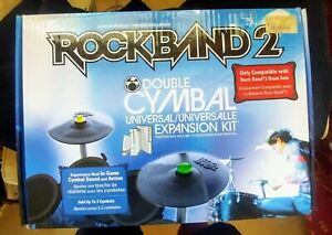 Rock Band 2 Double Cymbal Expansion Kit XBOX 360 Playstation 3 Wii MadCatz