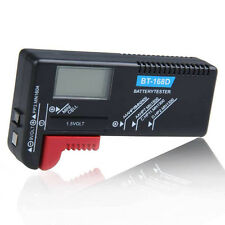 Digital LCD Battery Checker Volt Tester Cell AA AAA C D 9V 1.5V Button Universal